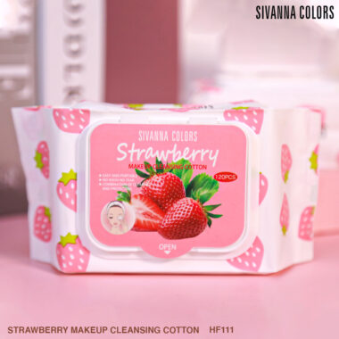 NEW!! STRAWBERRY MAKEUP CLEANSING COTTON : HF111